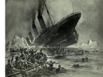 Ilustrasi Tenggelamnya Kapal Titanic karya Willy Stower (1912)